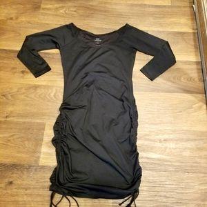 Good American Ruched Drawstring Dress